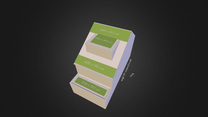House Vlaardingen Sketch Solar Panel Areas 3D Model