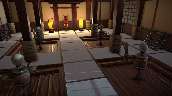 Samurai Training Room 3D Model