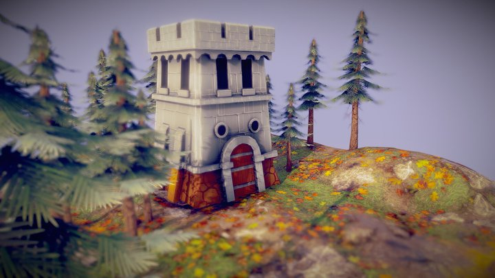 Medieval tower Age of Empires 3D Model
