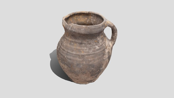 Medieval jug, XV c. 3D Model