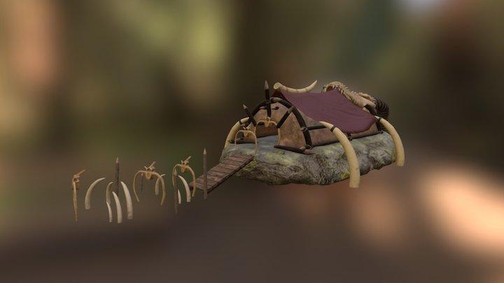 Orcs Settlement - Throne Room 3D Model