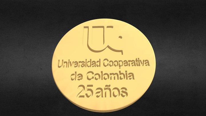 MEDALLA UNIVERSIDAD COOPERATIVA DE COLOMBIA 3D Model