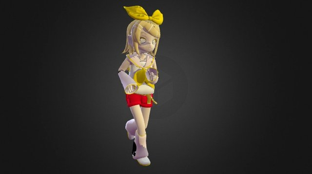 Rin jogging cycle 3D Model