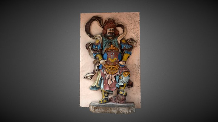 Figure from the Pagoda of the Celestial Lady 3D Model