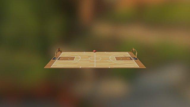cancha de basket 3D Model