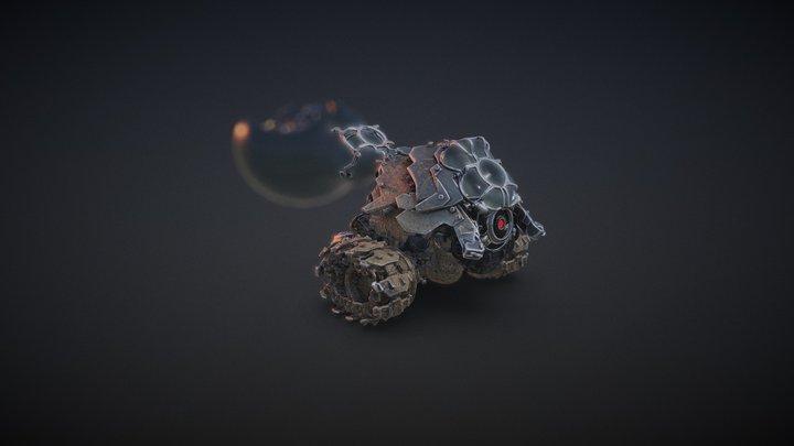 Nano Beam Tank from my 3D Graphic Novel 3D Model