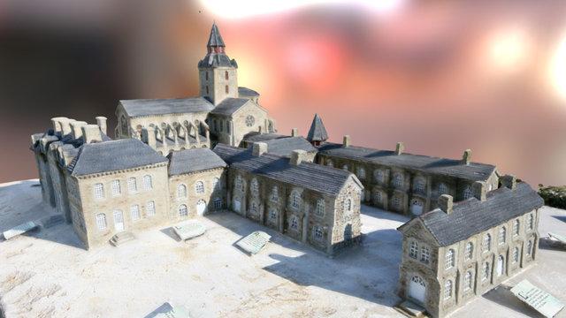 Maquette de l'abbaye de Savigny-le-Vieux 3D Model