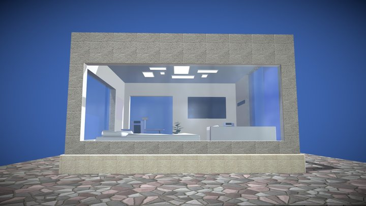 Small modern house in the country 3D Model