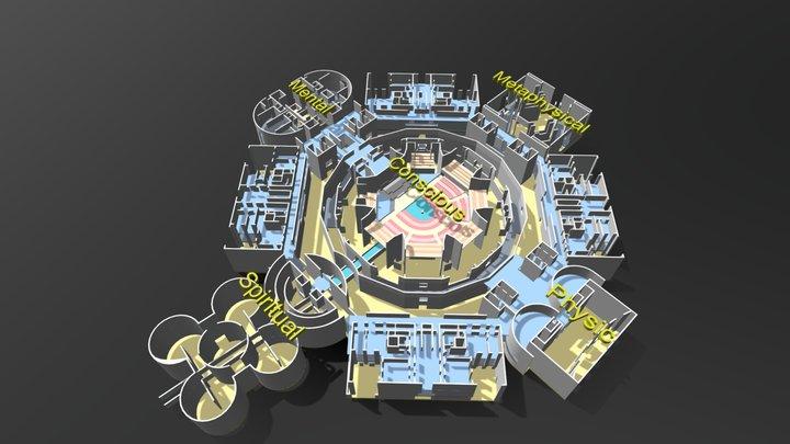 National Assembly Building, Bangladesh 3D Model