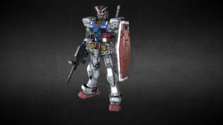 Gundam RX 78 - Static T-Pose Mesh 3D Model