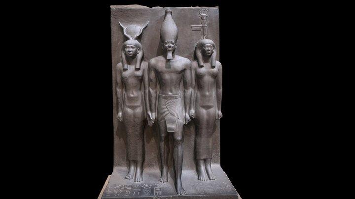 Menkaure, Hathor and a Goddess 3D Model