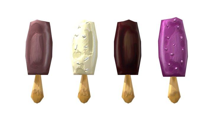Icecreams Pack 3D Model