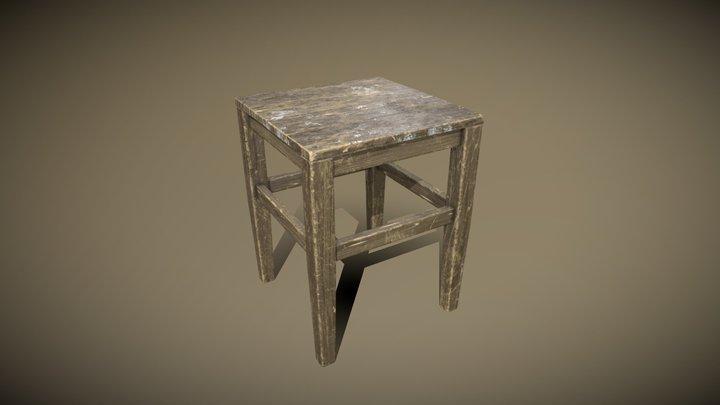 Simple Stool 3D Model