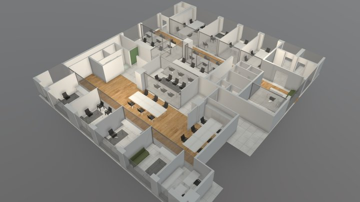 Ivy Offices 3D Model