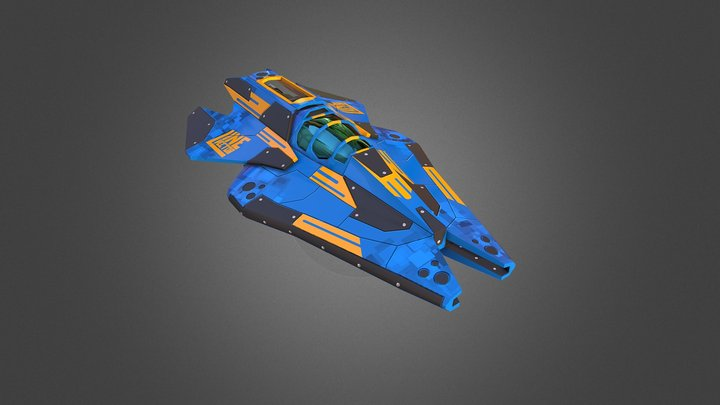 Stingray Racing Ship 3D Model