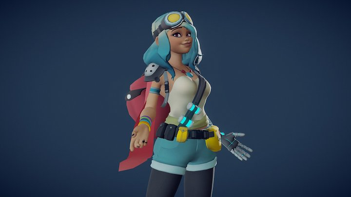 Punk Girl 3D Model