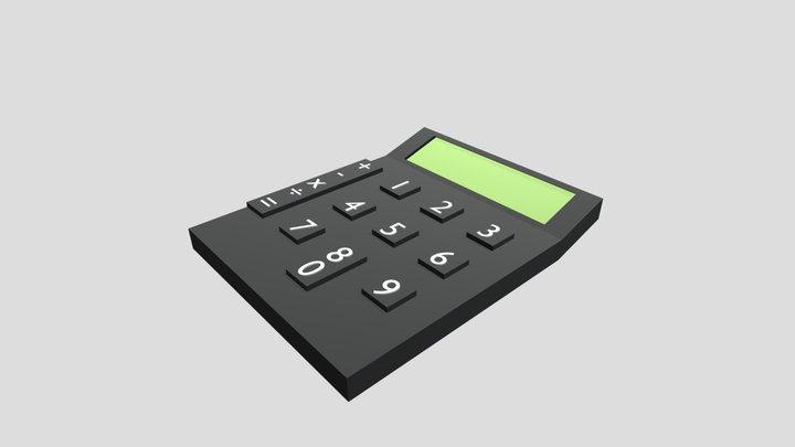 Low Poly Calculator 3D Model