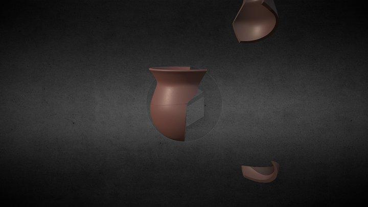 Partes dos recipientes cerâmicos 3D Model