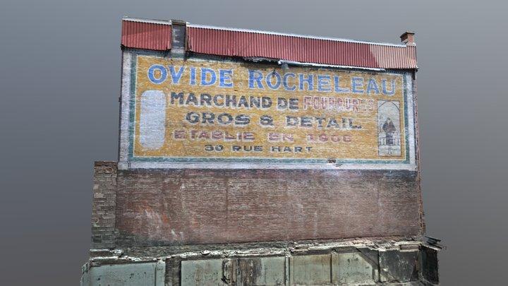 Murale Rocheleau - Rue Hart, Trois-Rivières 3D Model