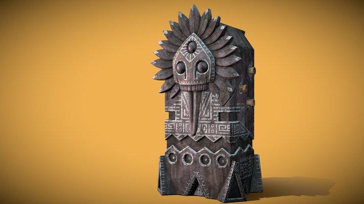 Totem statuette 3D Model