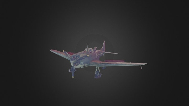 Pacific Aviation Museum's Dauntless Aircraft 3D Model