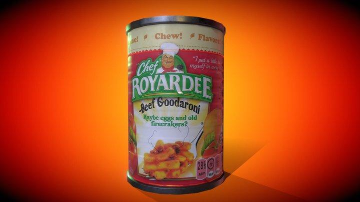 Chef Royardee Can Beef Goodaroni 3D Model