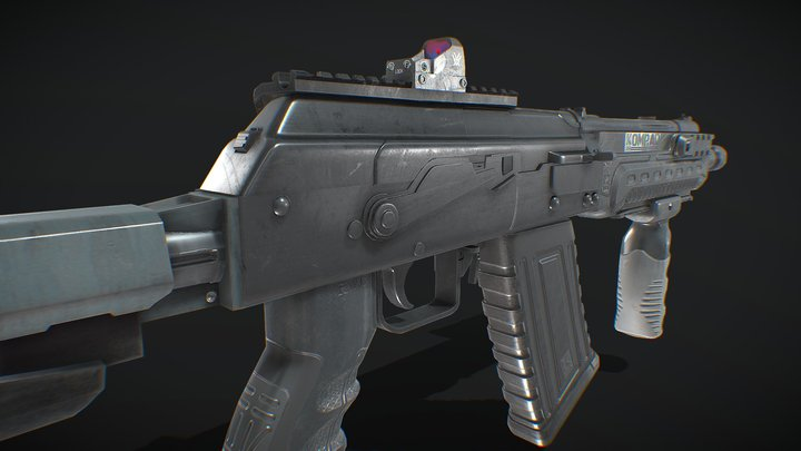 KOMRAD 12 SAIGA 12 3D Model