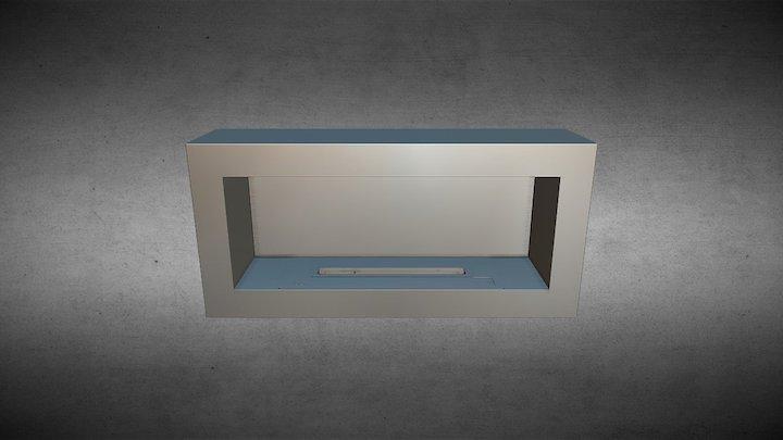 SASA L Large Ethanol Smart Fireplace 3D Model