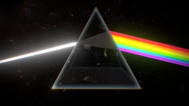 Pink Floyd Prism 3D 3D Model