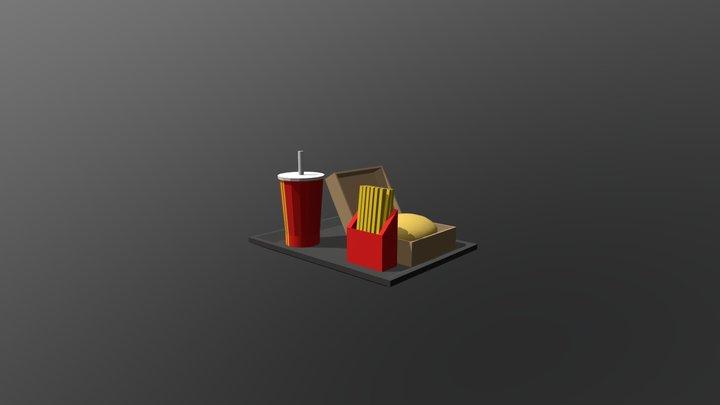 Burger meal 3D Model