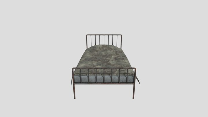 Bed Low-poly PBR 3D Model