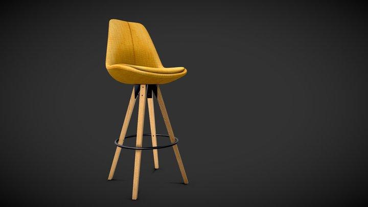 Dima upholstered barstool 3D Model