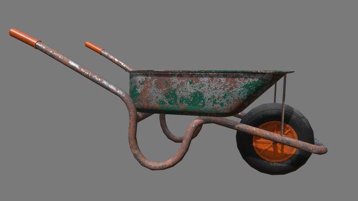 Rusty Wheelbarrow 3D Model