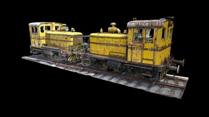 Yellow locomotives 3D Model
