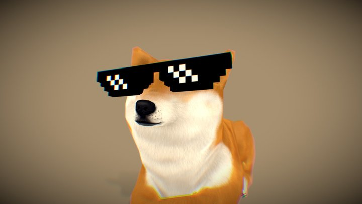 Deal With It Doge 3D Model