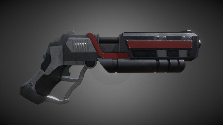 LOW-POLY GUN (143PT) 3D Model