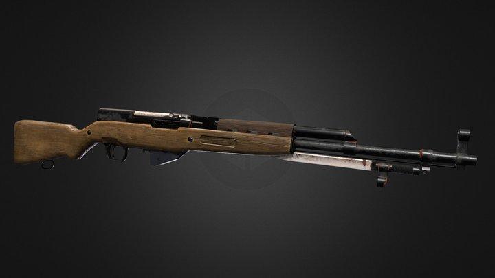 Vietnam war: sks rifle 3D Model
