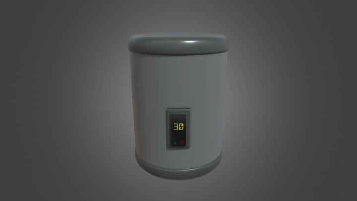 Electric Water Heater GameReady - LowPoly PBR 3D Model