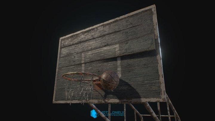 Old Basketball Backboard 3D Model