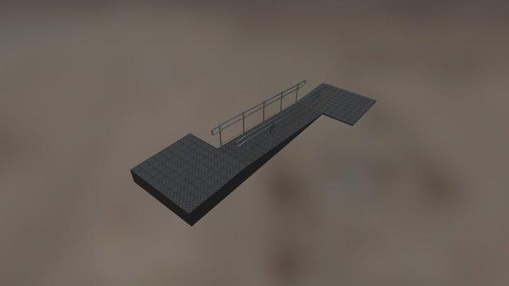 Ramp Entrance For Disabled 3D Model