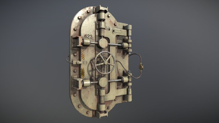 Bulkhead Door 3D Model