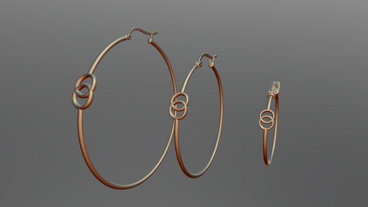 Hoop Earrings 3D Model
