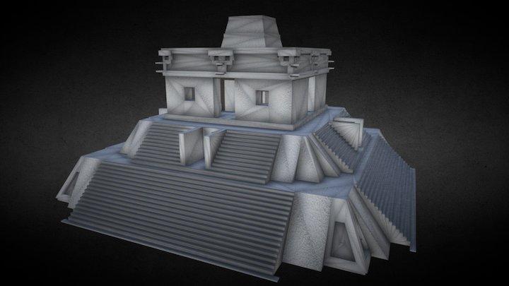 Templo de las 7 muñecas de Dzibilchaltún 3D Model
