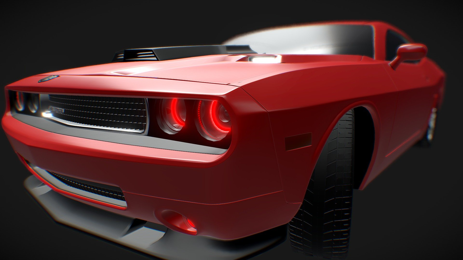 Dodge Challenger Download Free 3d Model By Gesy Mrgesy 2c1f18d Sketchfab