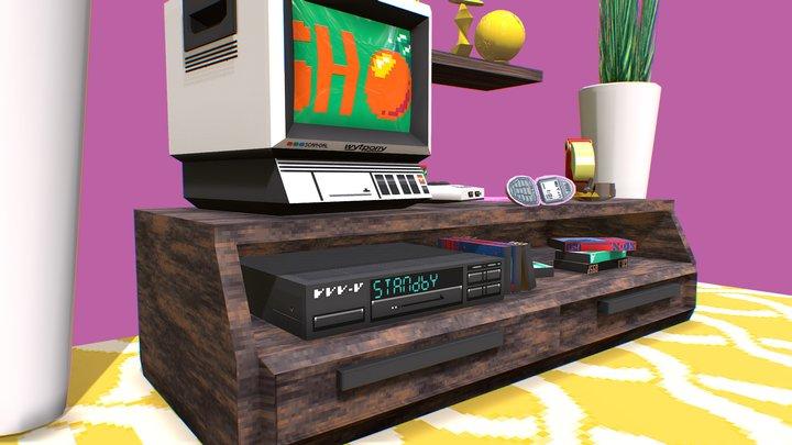 TV Room 3D Model
