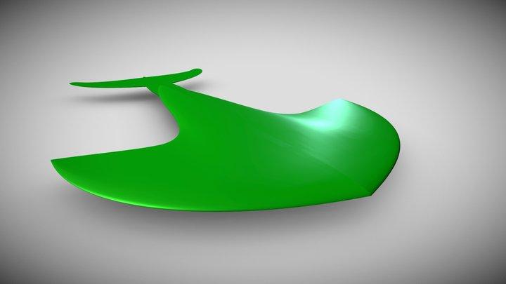 Advanced Hydrofoil bump and jump 3D Model