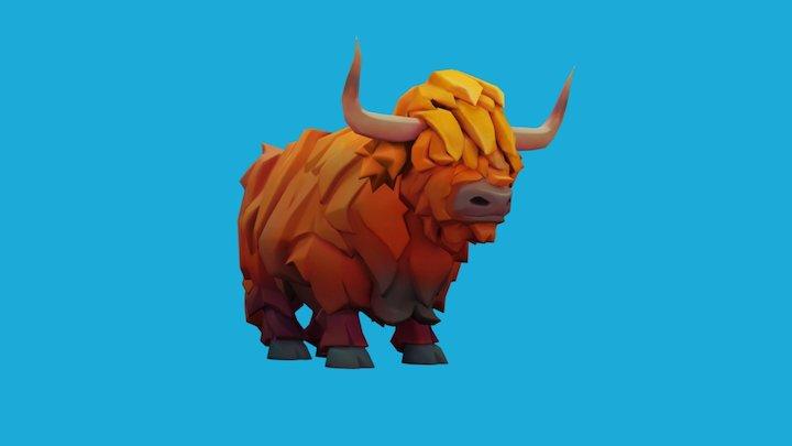 Highland cow 3D Model