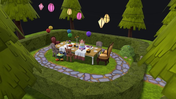 Teaparty 3D Model