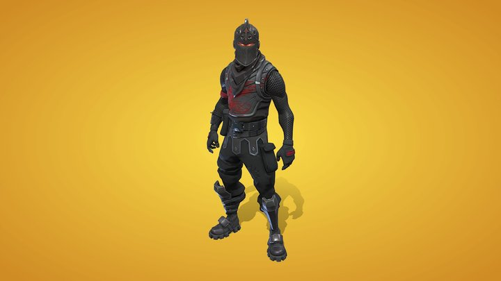 Black Knight Outfit 3D Model