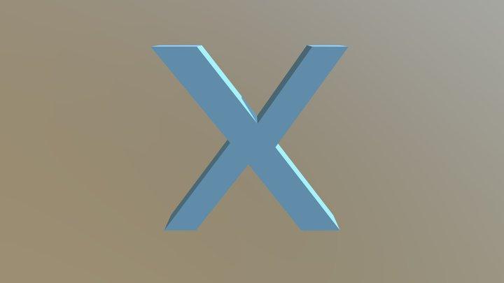 Blue Multiply Sign 3D Model